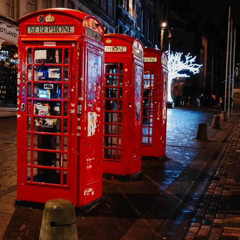 phone boxes in edinburgh