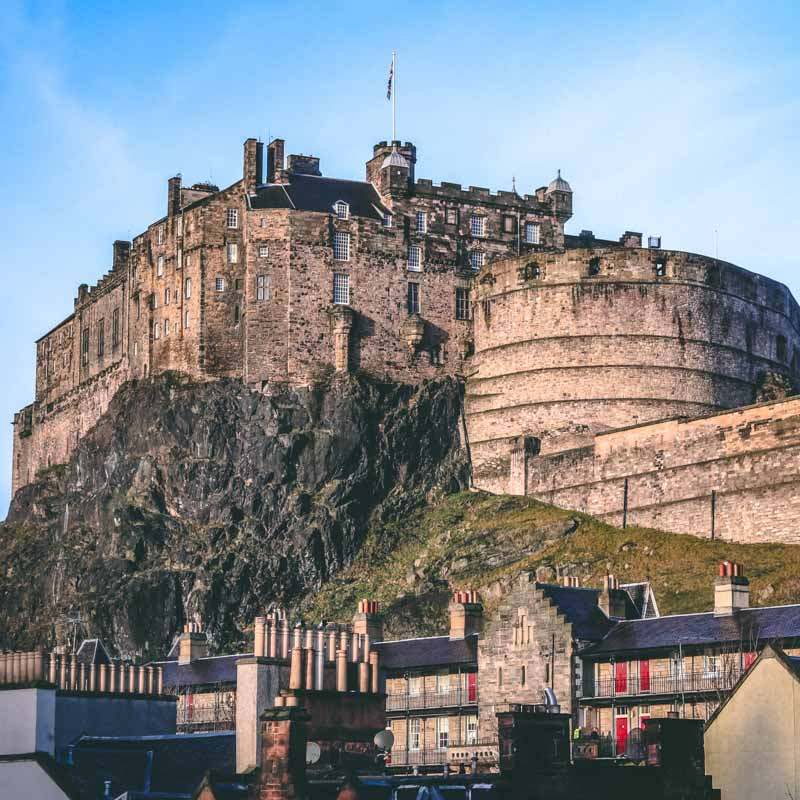 Edinburgh castle taken from below and filtered with Peter McKinnon LUTS